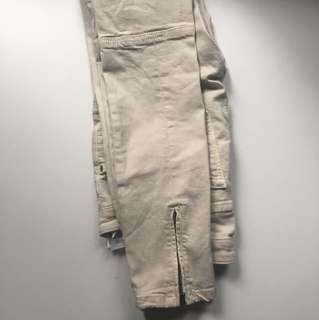 Zara nude jeans