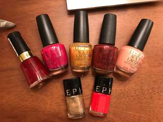 OPI nail polish + sephora + relvon 7 pieces
