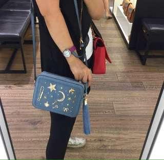 ALDO Yiosa Midnight Denim Crossbody Handbag