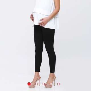 Black Maternity Cotton Legging