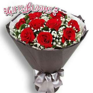 Fresh Flower Bouquet Anniversary Birthday Flower Gifts Graduation Roses Sunfowers Baby Breath -  7D20     52
