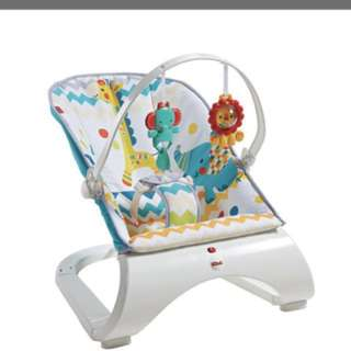 Fisher Price Colourful Carnival Comfort Curve Bouncer, baby  rocker