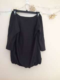 Black Long Sleeve Off Shoulder Shirt