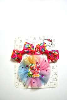 Shopkins hair clips set