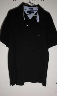 Black Tommy Hilfiger Logo Polo