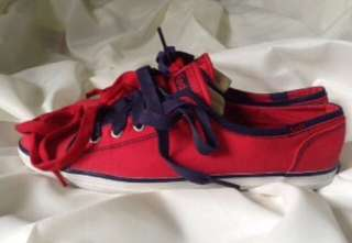 Authentic Keds Red/Navy Rally Sneakers Size 8