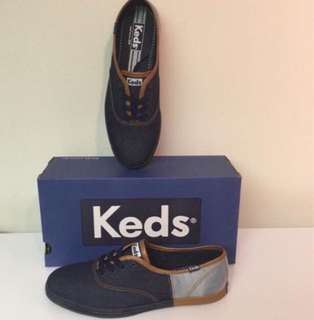 Brand New Authentic Keds Champion Denim 50/50 Size 8.5
