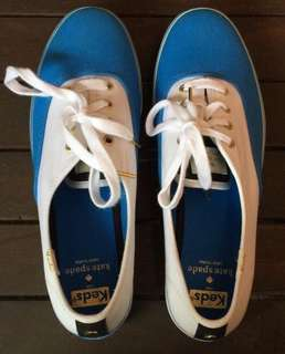 Brand New Authentic Keds Kate Spade Colorblock Ocean Blue White Triple