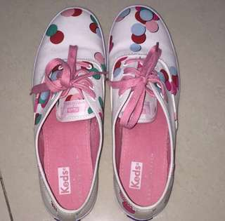 c9ff5026b113b Authentic Keds x Partyskirts Limited Edition Polka Dots White Sneakers