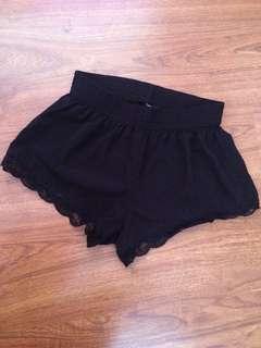 Forever 21 Lace Hem Shorts