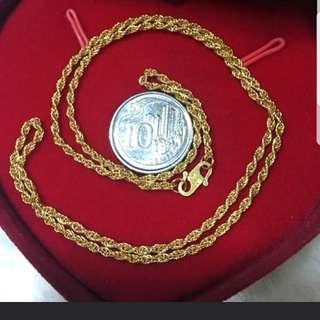 916 Gold Necklace 40cm