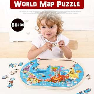 👣TOI THE WORLD MAP PUZZLE