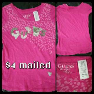 Authentic Preloved Guess Girls Tee