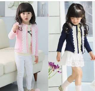 Girls lace cardigan