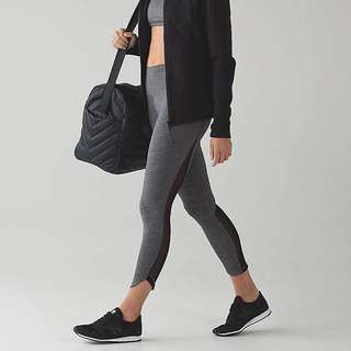 New black and grey yoga mesh pants sizes are s,m , and large