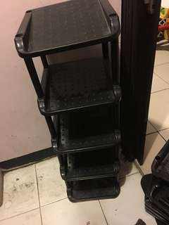 Shoe rack plastic