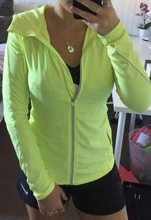 Lorna Jane Fluorescent yellow jumper