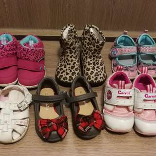 6 x Shoes baby girl 童鞋 女 kids shoes