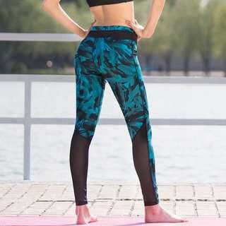 New mesh yoga pants