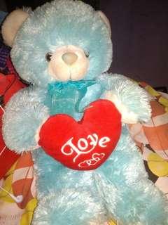 boneka tedy bear biru