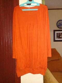 Kaos orange big size