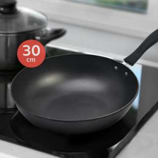 stainless steel and has non-stick coating.