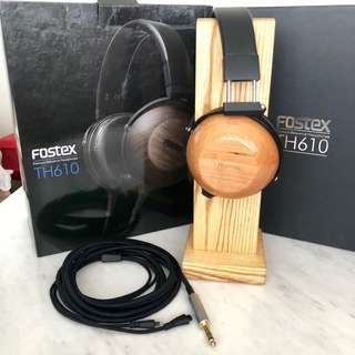 Fostex TH-610 TH610 headphones w Lawton Audio Cherry Cups