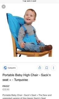 Portable baby high chair