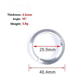 🆕! Crown Race 28.6mm For Bearing Headset Angles 45 Degree Silver To Straight 1-1/8 Fork     #OK