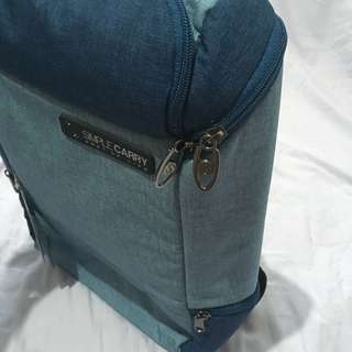 Simple Carry Laptop Bagpack Blue