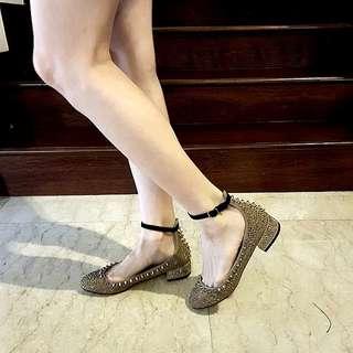 Gold studded Block Heels #julypayday