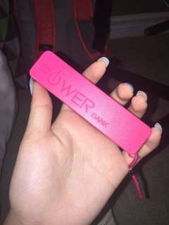 Pink power bank