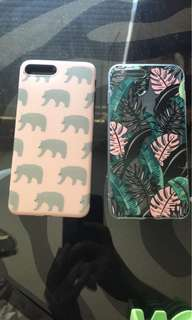 POLAR BEAR & PALM LEAVES IPHONE 7+ CASES