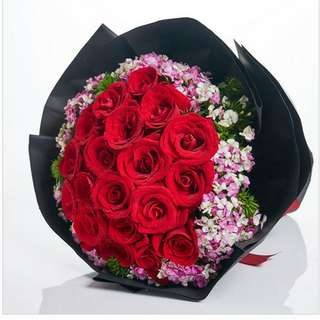 Fresh Flower Bouquet Anniversary Birthday Flower Gifts Graduation Roses Sunfowers Baby Breath -  20377     68