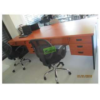 FST-12810DT TWO-TONE FREESTANDING TABLE--KHOMI