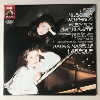 Liszt Music for Two Pianos Katia & Marielle Labeque EMI ASD 1436451