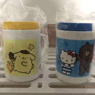 全新泰國7-11 Sanrio X Line Friends 膠杯