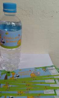 $8 Animal Theme Water Bottle Label Birthday Party Favor