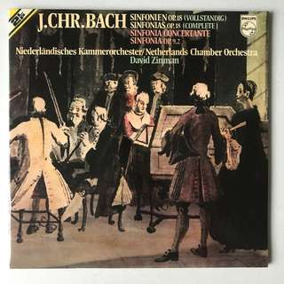 JC Bach Sinfonias op.18 David Zinman PHILIPS 6780025 2-LP album