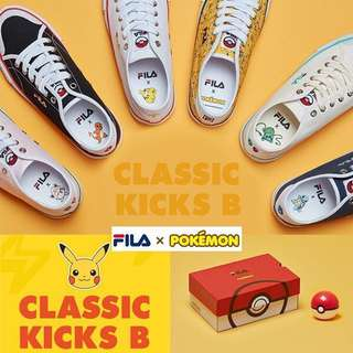[Fila X Pokemon] Sneakers Original Classic kicks B Series
