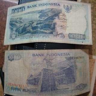 uang Rp.1000 tahun 1992