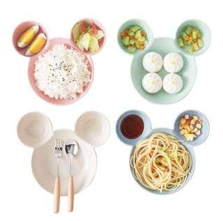 Mickey Plate + spoon + fork set