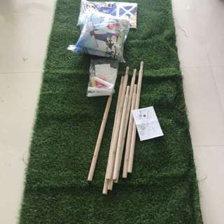 Friso green carpet with tent BNIB