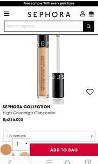 Sephora concealer high coverage