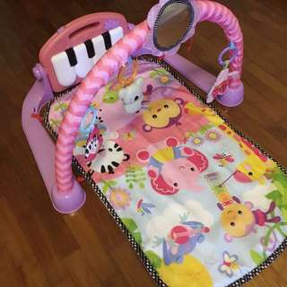 Fisher Price Kick and Play Piano Gym - Pink