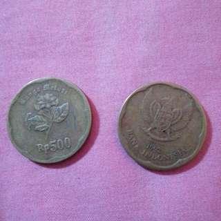 uang Rp. 500 tahun 1992