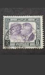 Malaya 1935 Johore Sultan Sri Ibrahim With Sultan Single Issued -1v Used #1 Malaya Stamps