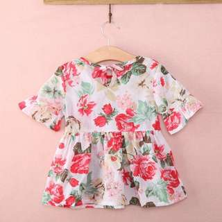 Kids girl floral summer top