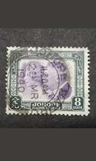 Malaya 1935 Johore Sultan Sri Ibrahim With Sultan Single Issued -1v Used #2 Malaya Stamps
