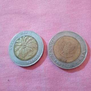 uang Rp.1000 kelapa sawit tahun 1996